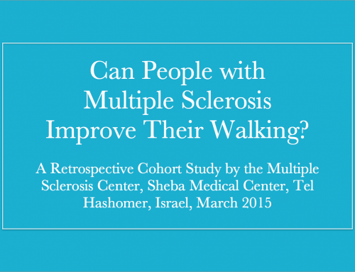 Can People with Multiple Sclerosis Improve Their Walking?