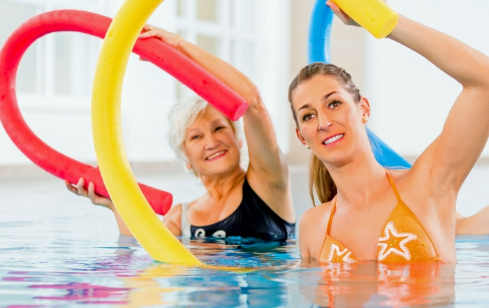 Fibromyalgia Treatment: Aquatic vs Land Aerobic and Stretching Exercises
